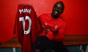 Sadio Mané has scored six Premier League goals this season.