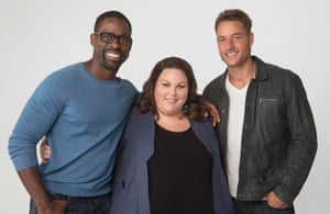 Sterling K Brown, Chrissy Metz and Justin Hartley in This Is Us.