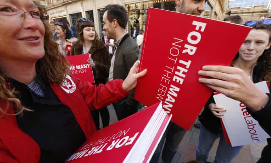Labour activists in Glasgow