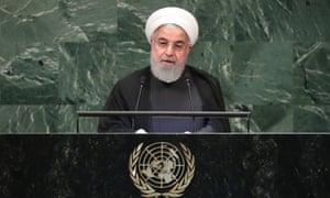 Hassan Rouhani speaks.