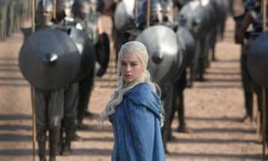 Daenerys (Emilia Clarke) and the Unsullied.