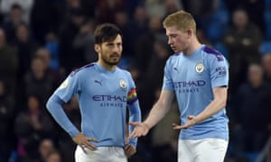 Kevin De Bruyne (right) has more responsibility on his shoulders as David Silva drifts into the background at Manchester City.