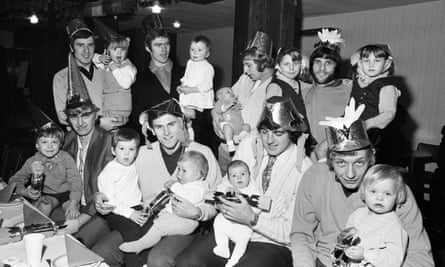 Birmingham City players enjoying the club's Christmas party with their children in December 1970. Toni Clark looks back 'fondly on my days of adoring each and every one of the Birmingham City team'.