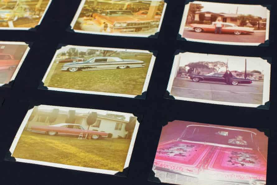 old photo album of old lowrider photos
