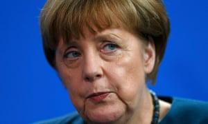 Angela Merkel speaks during a news conference
