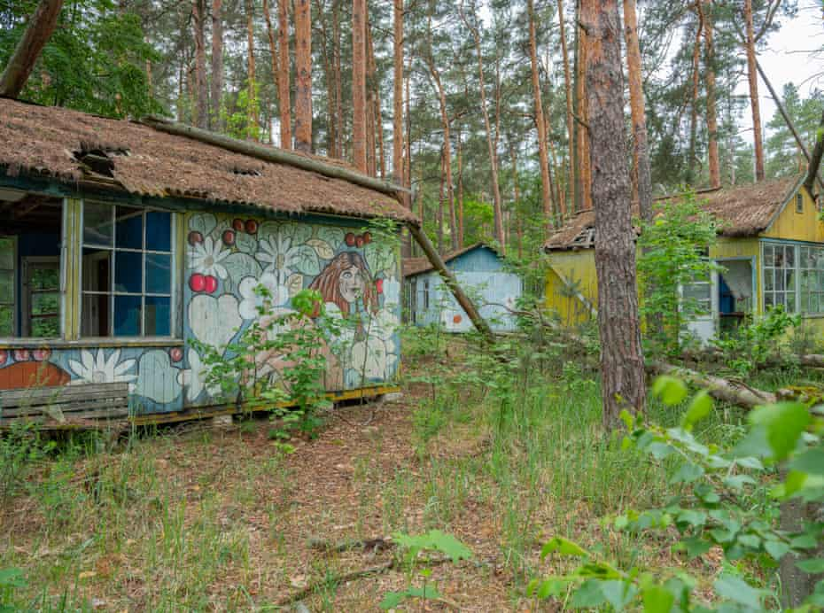 The children's holiday camp just off a main road in the exclusion zone.