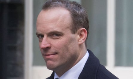 Hail chicken caesar, allegedly the staple diet of Dominic Raab.