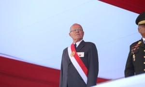 Pedro Pablo Kuczynski attends a ceremony in Lima, Peru on 14 December 2017.
