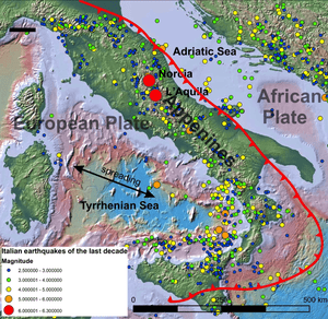 The Geology That Causes Italys Spine To Quake Science The - Italy earthquake map