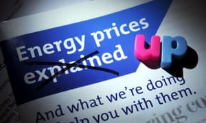 A leaflet about energy prices