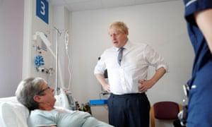 Boris Johnson visits Addenbrooke's hospital in Cambridge
