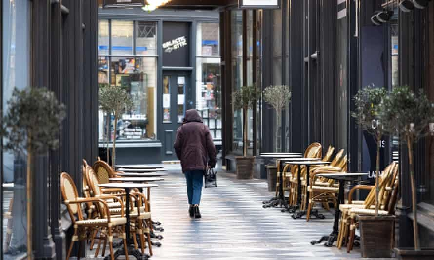 A deserted Cardiff shopping arcade
