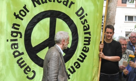 Jeremy Corbyn at a Hiroshima Day ceremony in London.
