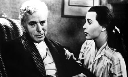 Charlie Chaplin and Claire Bloom in Limelight, 1952.