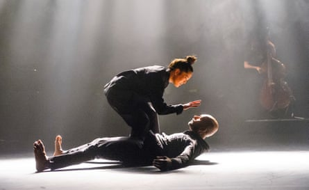Honji Wang and Akram Khan and in <em>The Pursuit Of Now</em> at Sadler's Wells, March 2015.