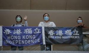Pro-democracy demonstrators in Hong Kong