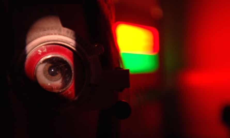Eye test at Moorfields eye hospital.