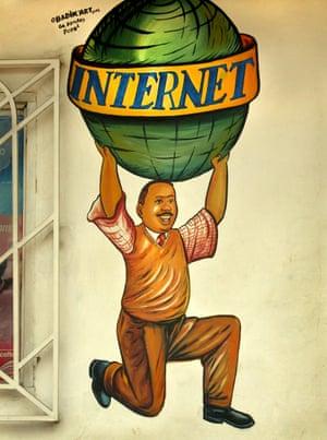 Internet mural