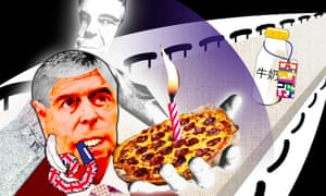 Lost In Showbiz - Illustration of Prince Andrew with a pizza