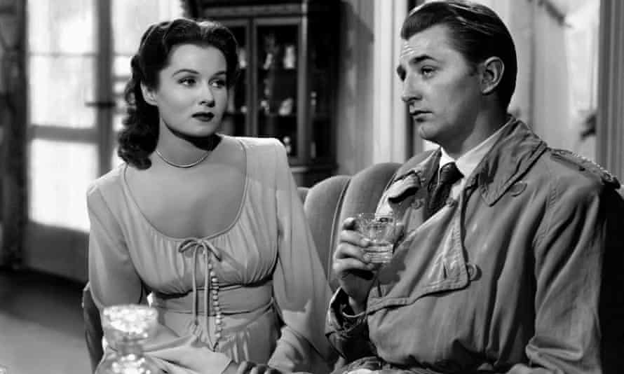 Rhonda Fleming and Robert Mitchum in Out of the Past (aka Build My Gallows High), 1947.