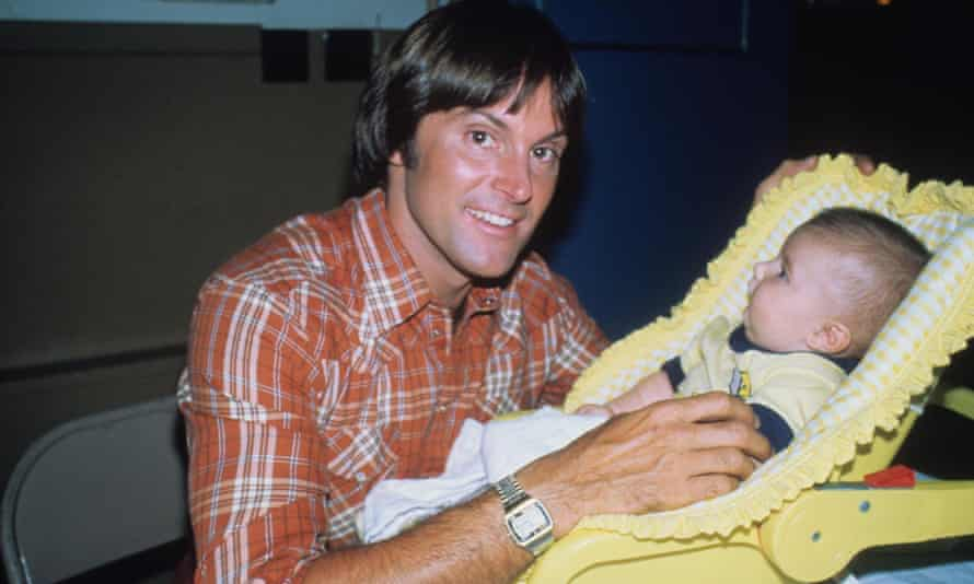 Bruce Jenner with baby son Brandon