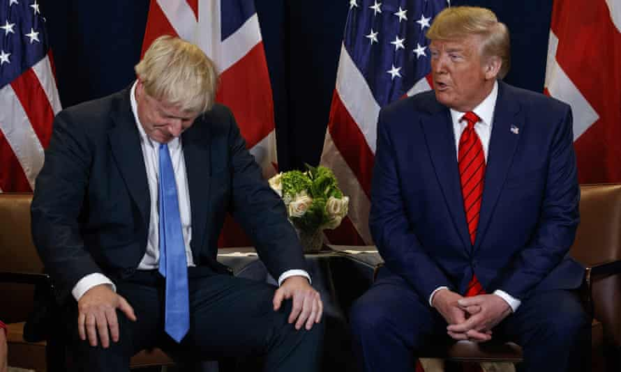 Donald Trump meets with Boris Johnson.