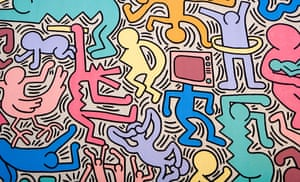 Keith Haring's wall painting Tuttomondo in Pisa