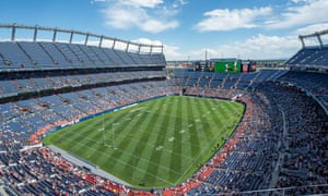 A general view of the stadium at Mile High as England beat New Zealand.
