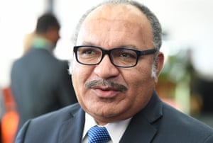 Papua New Guinea Prime Minister Peter O'Neill at the PNG Australia Business Forum in Brisbane.