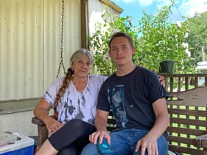 Florene Reed (left) only drinks the tap water if she cannot afford to buy bottles as it makes her stomach burn. Grandson Chance Crum (right) has never tasted tap water.