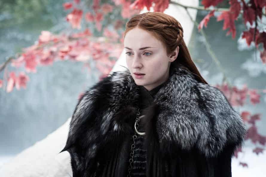 Sophie Turner as Sansa Stark.