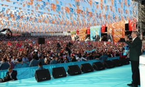 Erdogan addresses a rally in Ordu.