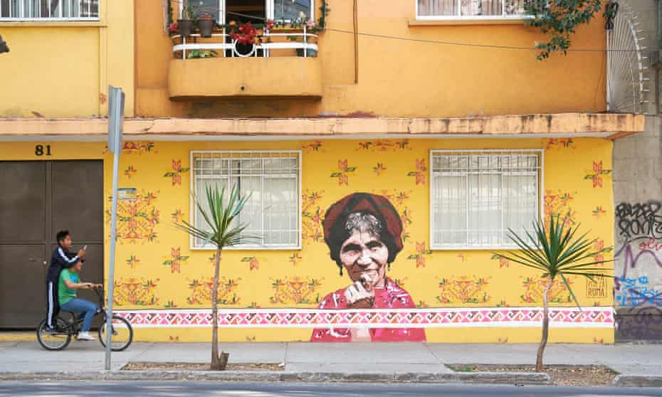 Murals Abuela Teneek by Chauiztle, Mexico City