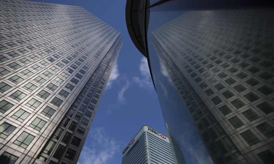 HSBC's headquarters in Canary Wharf, London