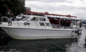 Image of a tourist catamaran released by the Malaysian Maritime Enforcement Agency