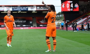 Valentino Lazaro of Newcastle United scores his sides fourth goal.