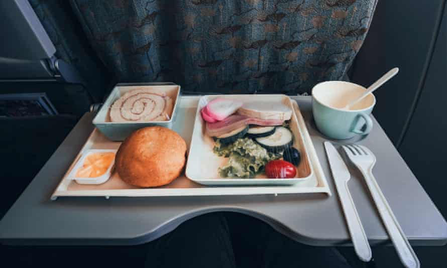 Food tray on airline