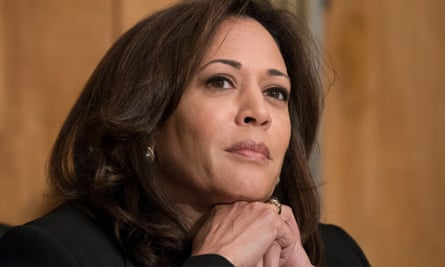 Kamala Harris attends a Senate committee hearing. The former attorney general of California has made a mark despite joining the Senate just eight months ago.