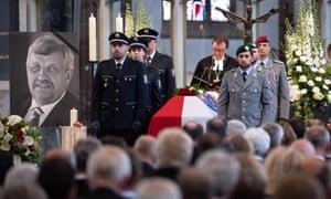A memorial service for Walter Lüebcke in June 2019.