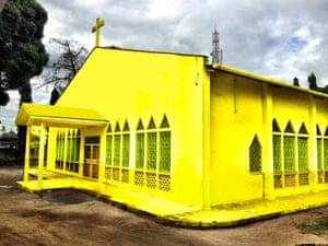 Bright idea ... one of Yazmany Arboleda's repainted churches.