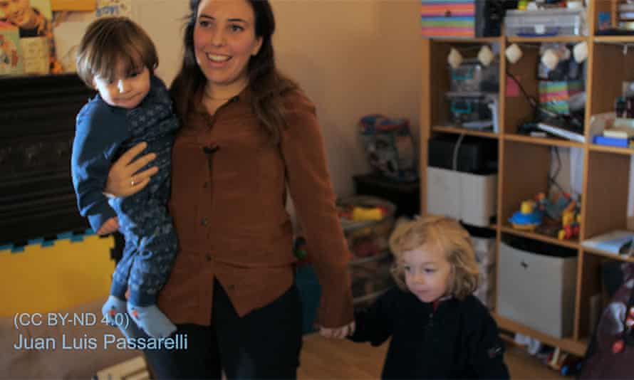 A handout image of Julian Assange's partner Stella Moris and their sons Gabriel and Max
