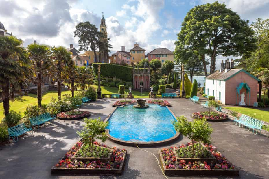Village of Portmeirion in North Wales,UK.