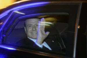 November 2011: Berlusconi leaves Palazzo Grazzioli, his personal residence, to formally submit his resignation to Italy's president
