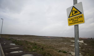 A view of the site for Hinkley Point C in Somerset