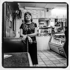Tessie Polygerinos at Munchtime Diner on 170th St. between Jerome Ave & Townsend Ave. Her husband, Laki, has owned the diner since the 1960s