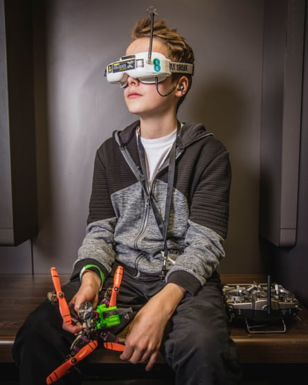 Drone racing world champion Luke Bannister, 16, from Somerset.