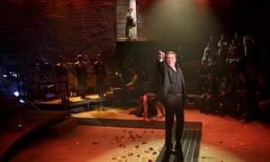 Political point … Patrick Page as Hades in Hadestown.