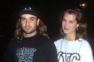 Actor Brooke Shields with tennis player Andre Agassi in 1994