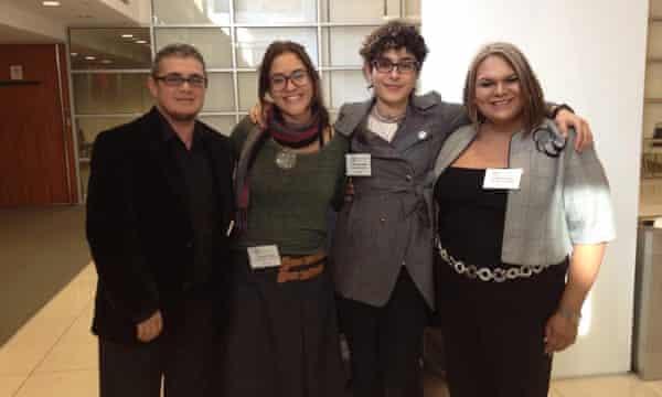 Intersex activists Mauro Cabral, Pidge Pagonis, Paula Sandrine Machado and Natasha Jiménez.