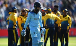 Moeen Ali trudges off after being caught on the boundary having hit his previous ball for six as England failed to chase a meagre 233 for victory.